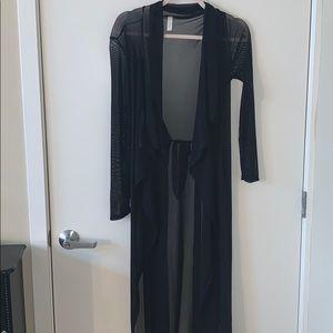 Black sheer coat NWOT